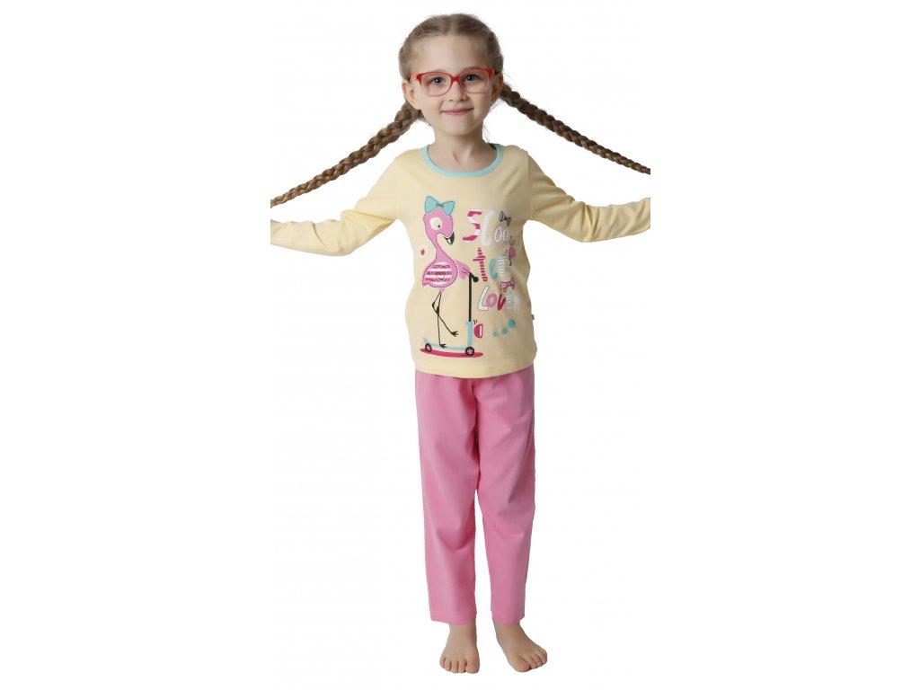 Dětské pyžamo CALVI 18-185 - žluté