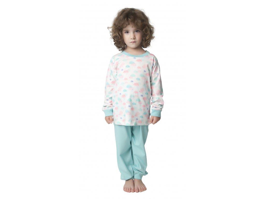 Dětské pyžamo CALVI 18-322 - bílé