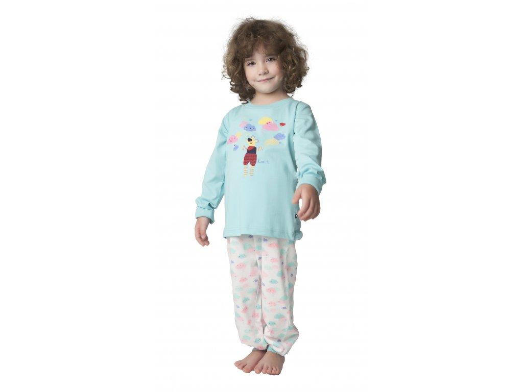 Dětské pyžamo CALVI 18-322 - sv. tyrkysové