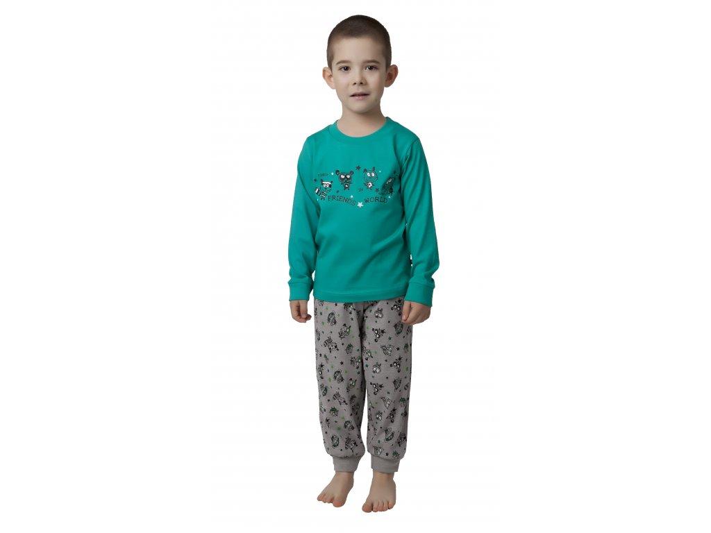 Chlapecké pyžamo CALVI 17-526 - zelené