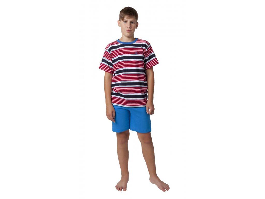 Chlapecké pyžamo s kraťasy CALVI 18-401 - červené
