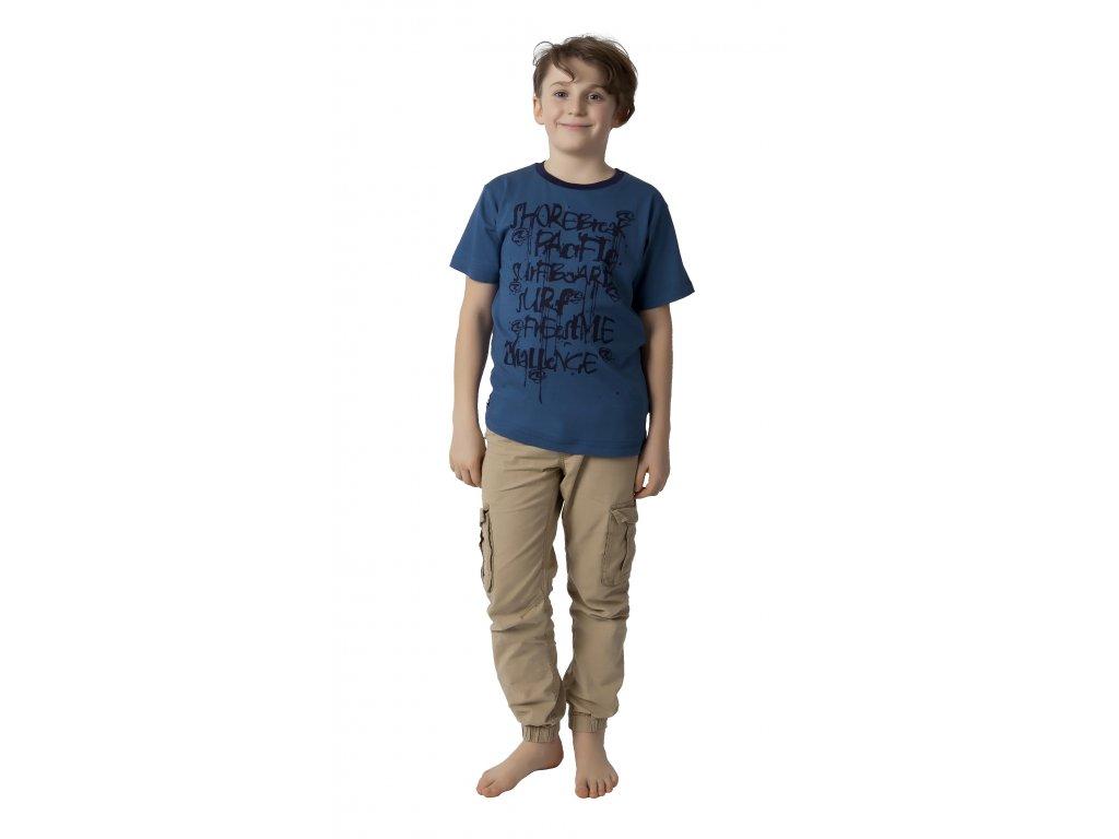 Chlapecké triko CALVI 18-123 -  temně modré
