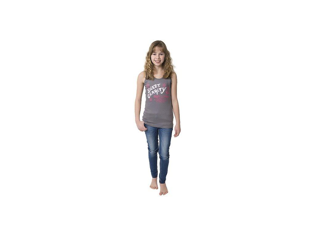 Dívčí tílko CALVI 17-261 - šedé