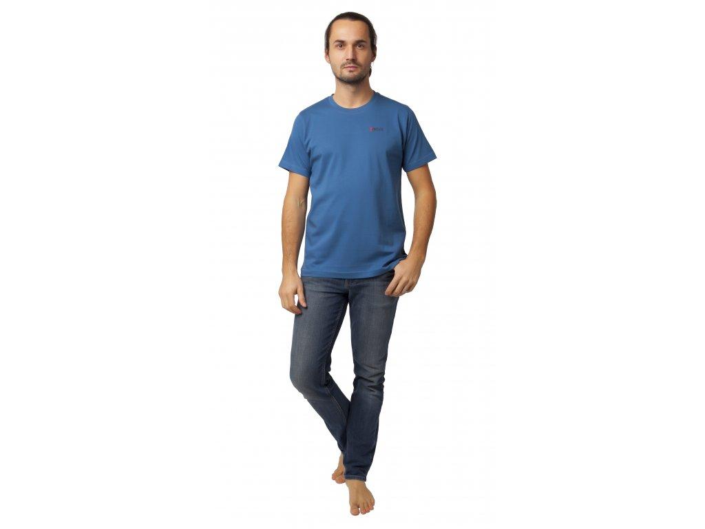 Pánské triko CALVI 20-076 - temně modré