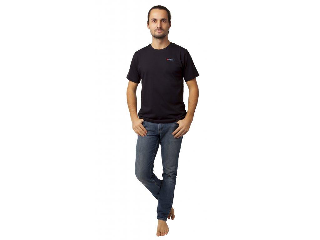 Pánské triko CALVI 20-076 - černé