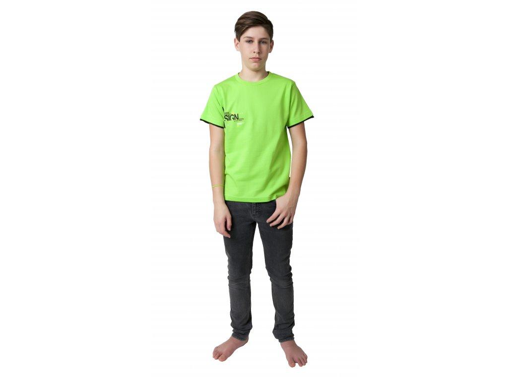 Chlapecké triko CALVI 19-018 - jarní zelená