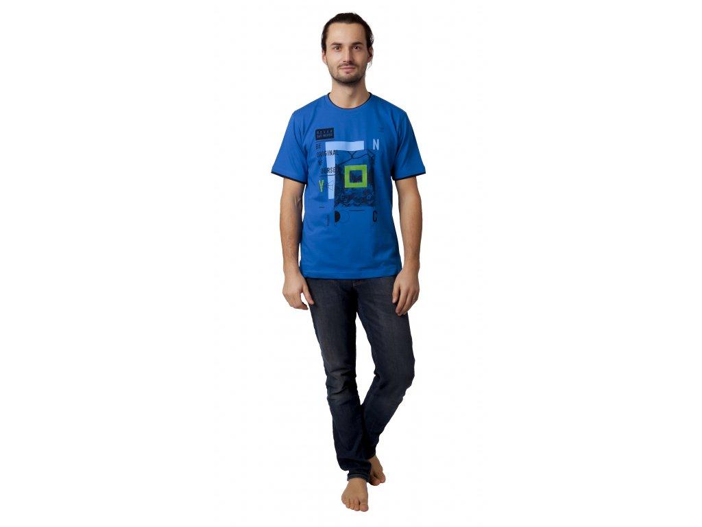Pánské triko CALVI 19-025 - modré
