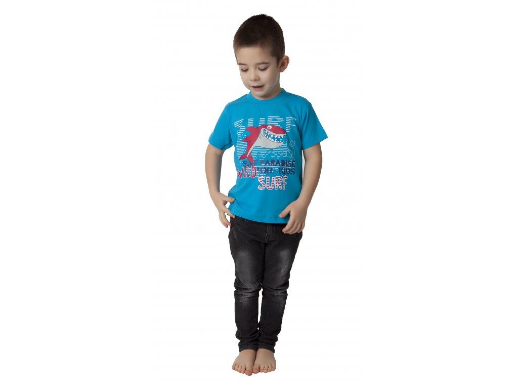 Chlapecké triko CALVI 17-268 - tyrkysové
