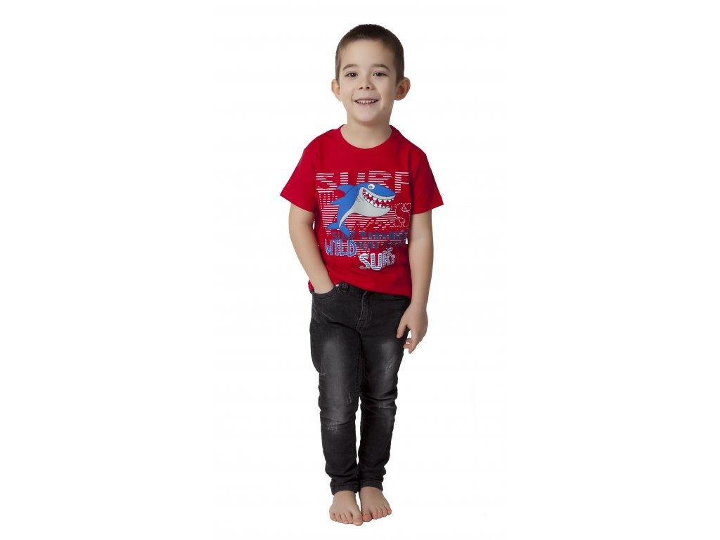 Chlapecké triko CALVI 17-268 - červená
