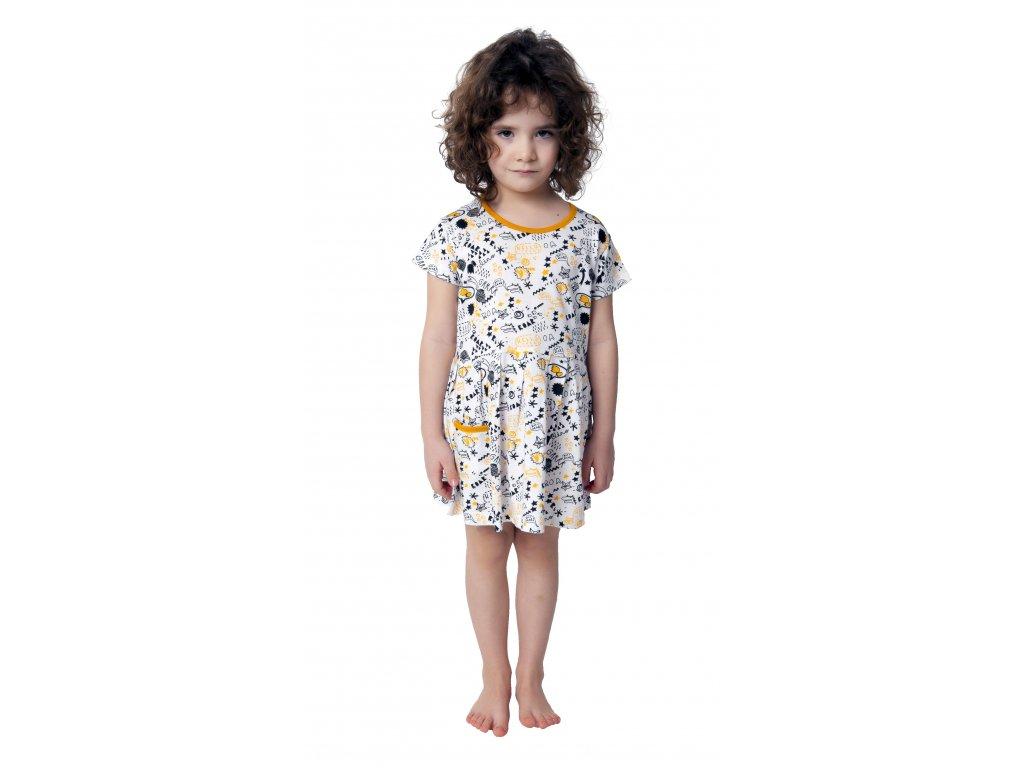 Dívčí šaty CALVI 19-009 - bíločerné
