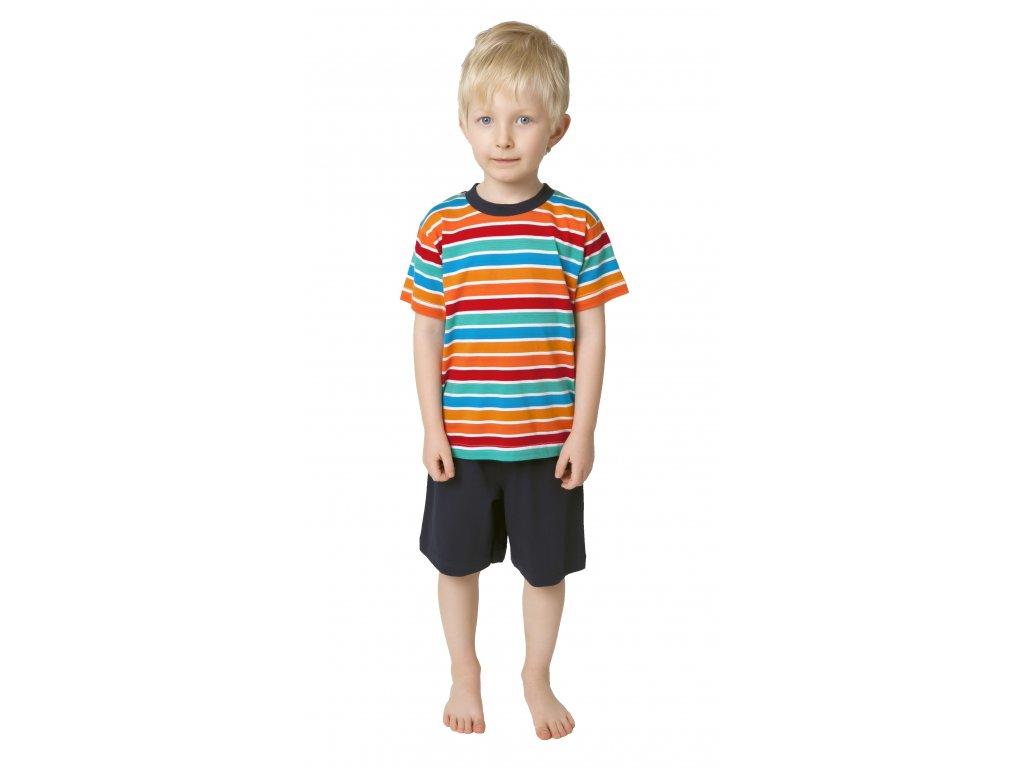 Chlapecké pyžamo s kraťasy CALVI 19-112 - barevný mix