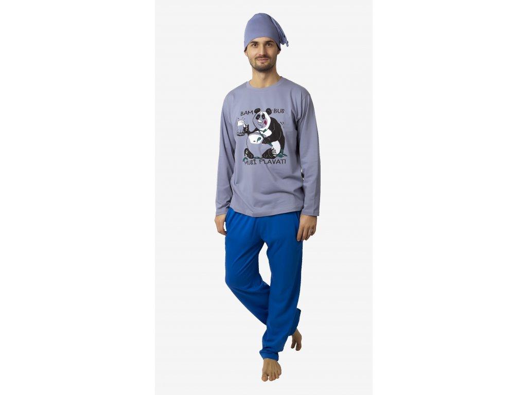 Pánské pyžamo CALVI 18-216 - šedé (Velikost XL)