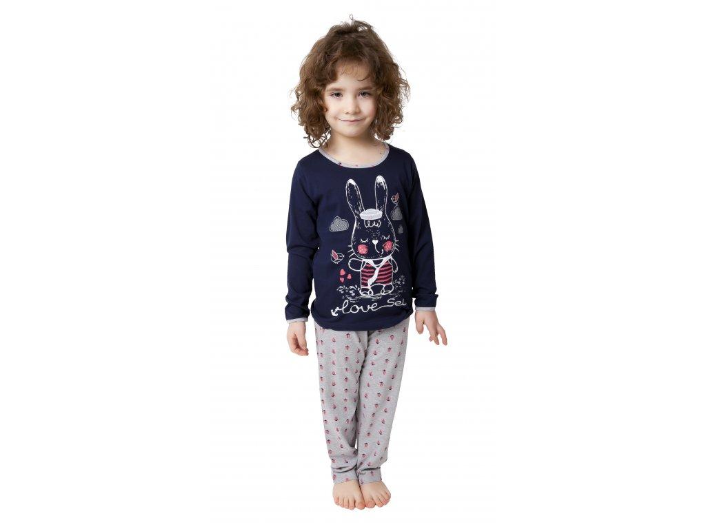 Dívčí pyžamo CALVI 19-077 - modré