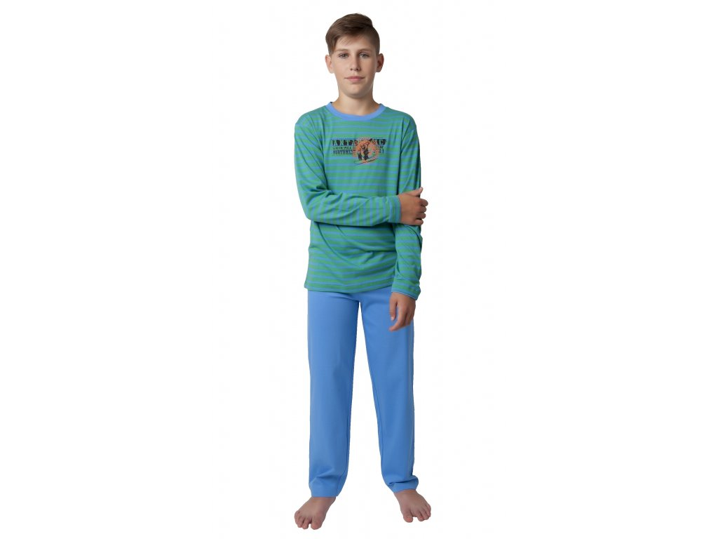 Chlapecké pyžamo CALVI 18-338 - zelené