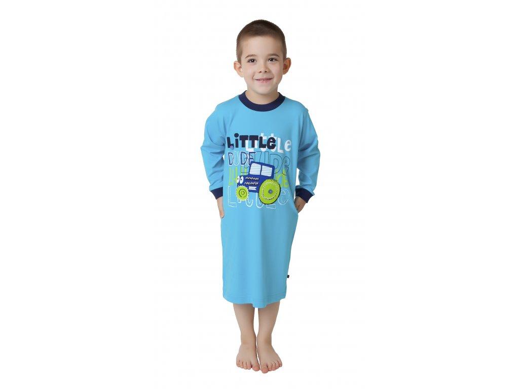 Chlapecká noční košile CALVI 16-432 - tyrkysová