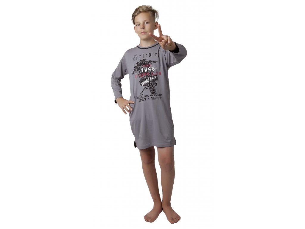 Chlapecká noční košile CALVI 17-520 - tm. modrá
