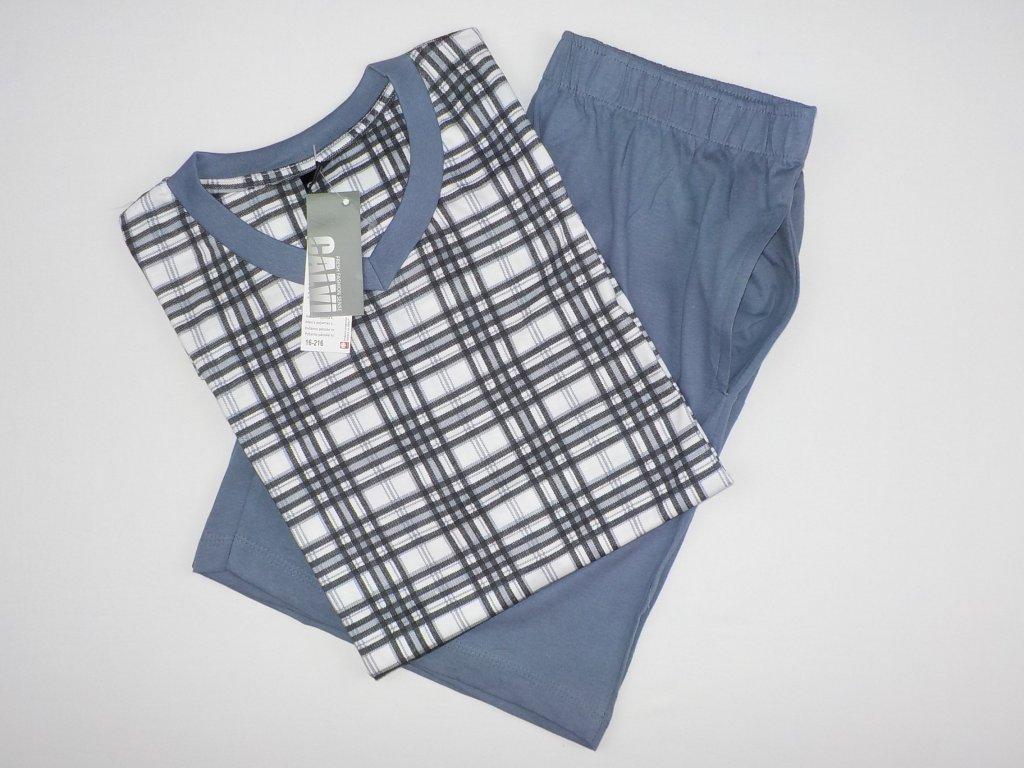 Pánské pyžamo CALVI 16-216 - šedá kostka (Velikost XXL)