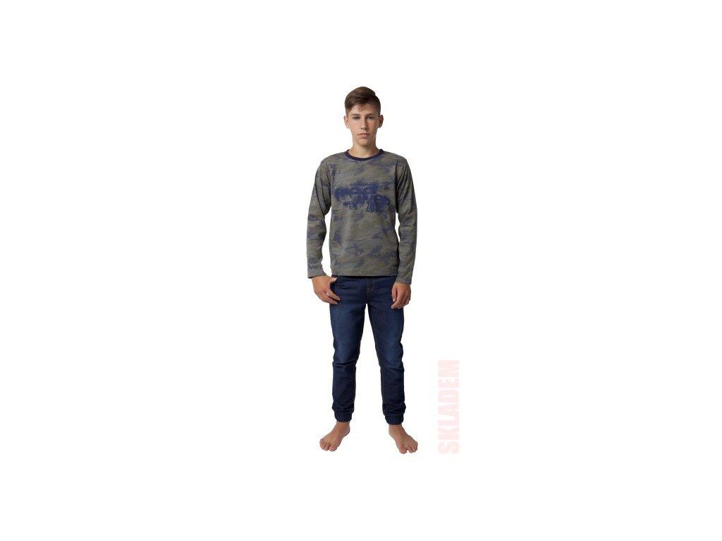 Chlapecké triko CALVI 19-453 - maskáčové