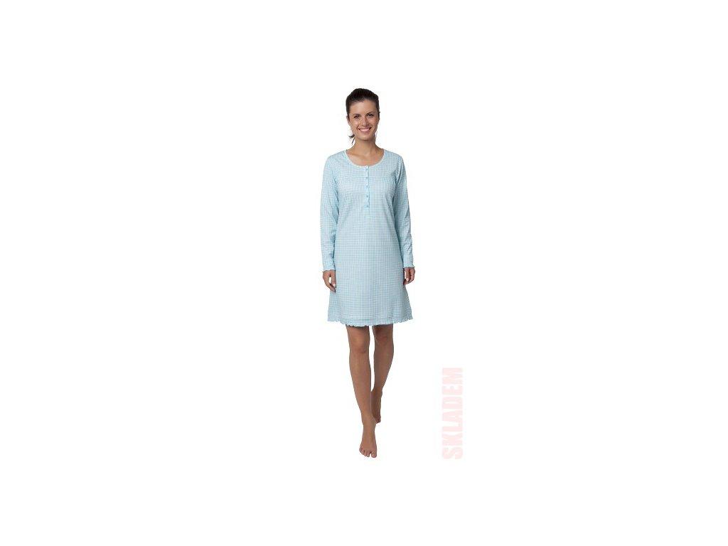 Dámská noční košile CALVI 18-356 - tyrkysová