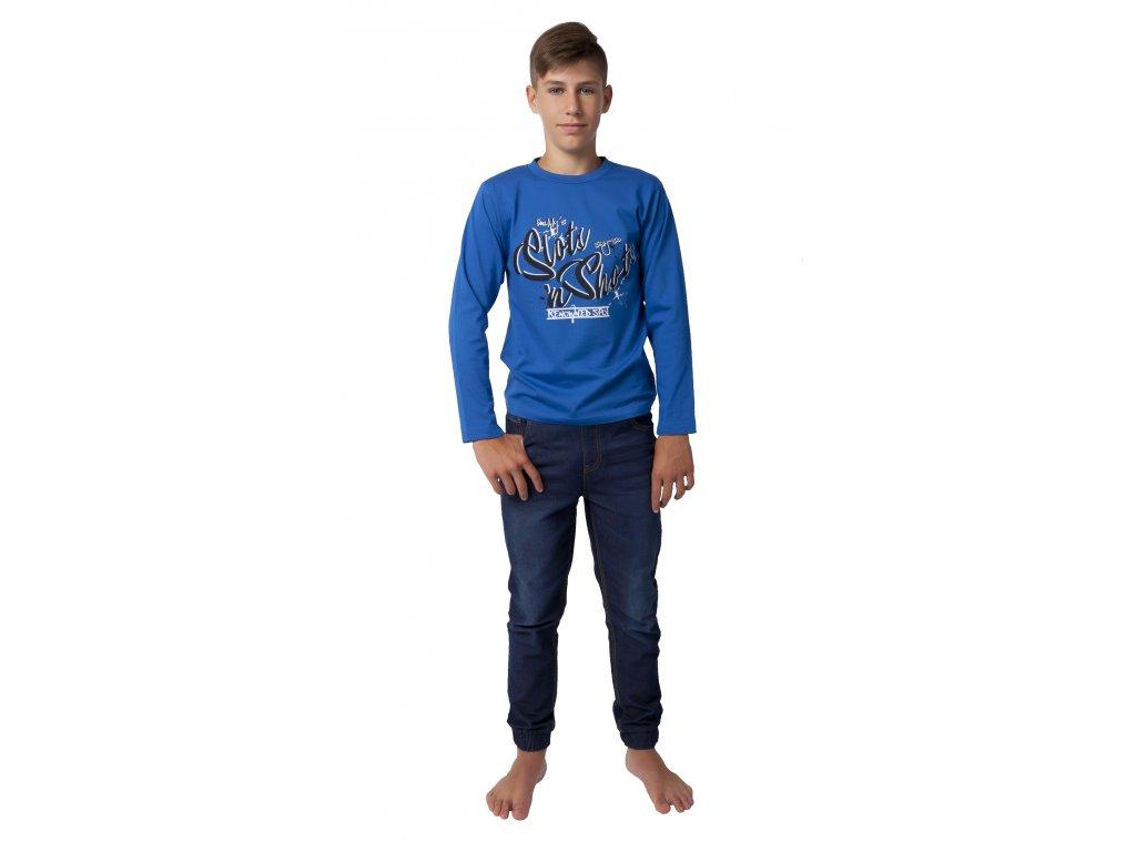 Chlapecké triko CALVI 19-452 - modré