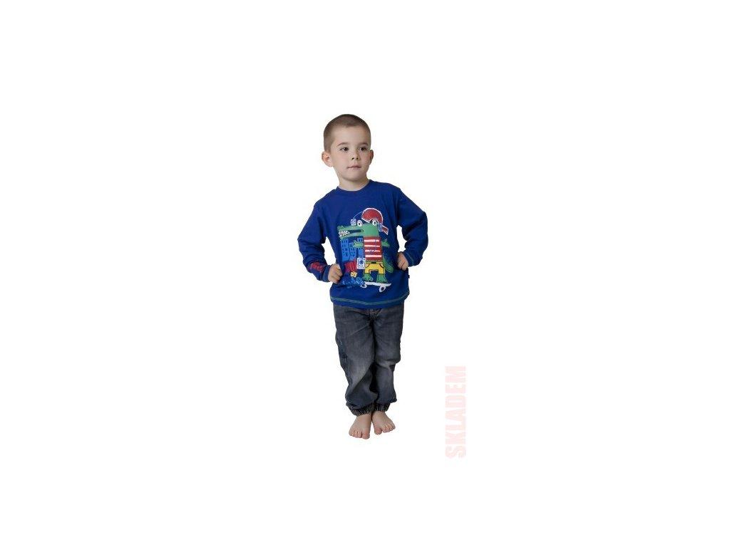Chlapecké triko CALVI 15-605 - tm. modré