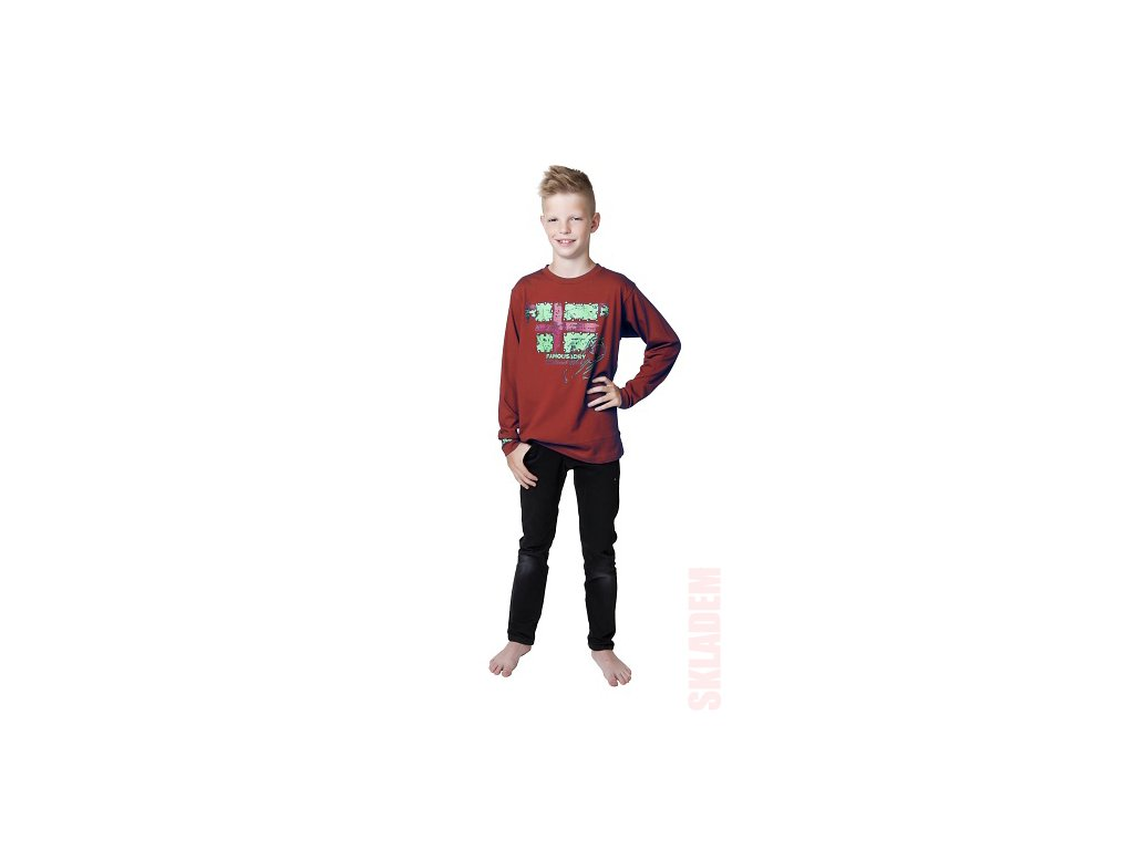 Chlapecké triko CALVI 15-612 - vínové