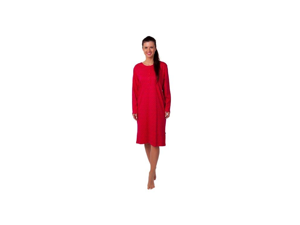 Dámská noční košile CALVI 20-347 - sytě růžová