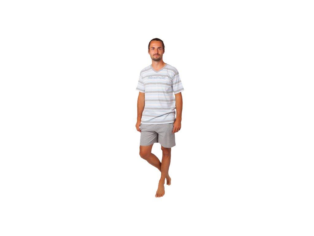 Pánské pyžamo CALVI 20-369 - šedé, šedé trenky