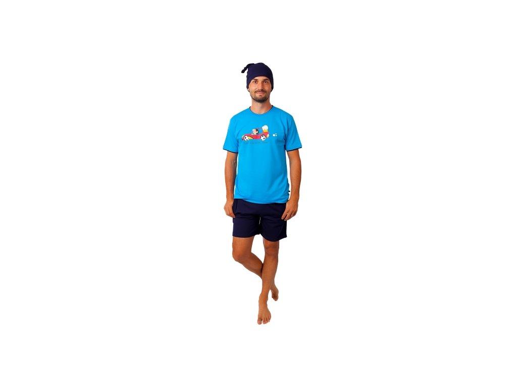 Pánské pyžamo CALVI 20-374 - modré