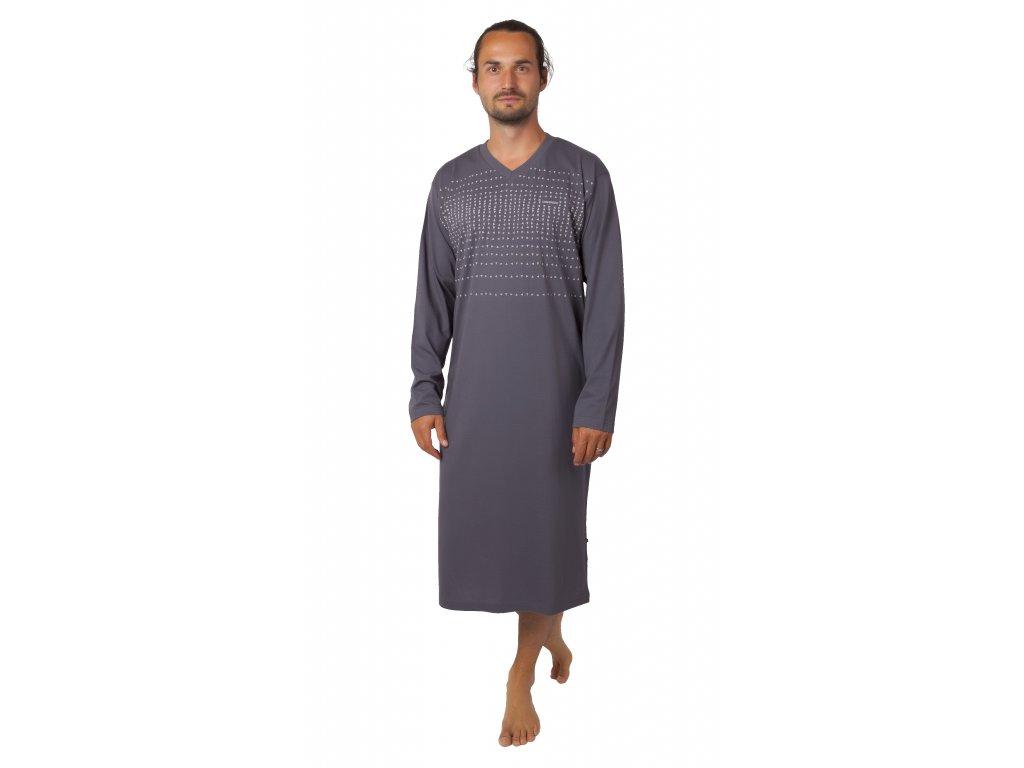 Pánská noční košile CALVI - 20-364 - šedá