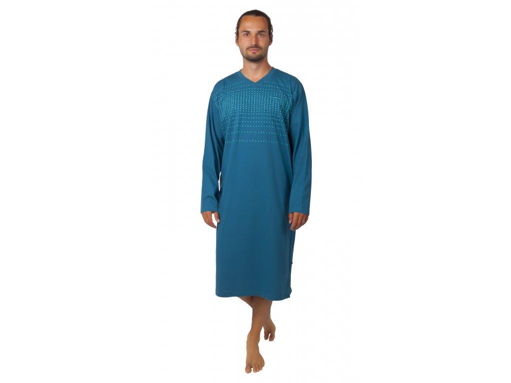 Pánská noční košile CALVI - 20-364 - petrolejová