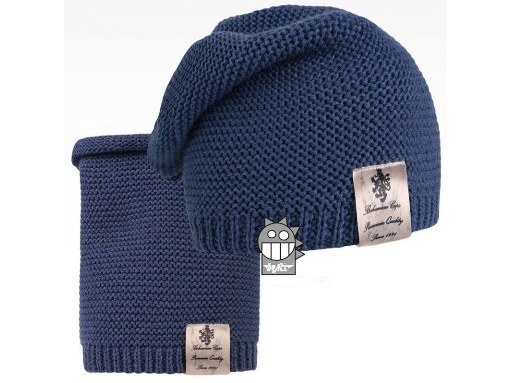 pletená čepice+nákrčník 18 LI
