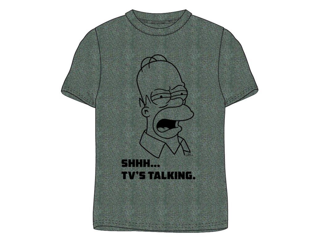 Pánské triko Homer Simpson 899412 - khaki melír