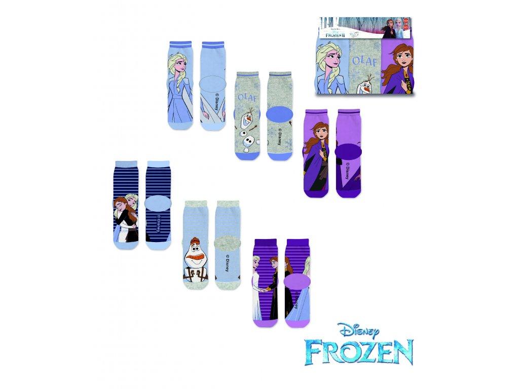 Dětské ponožky FROZEN 3PACK 37033 - mix barev