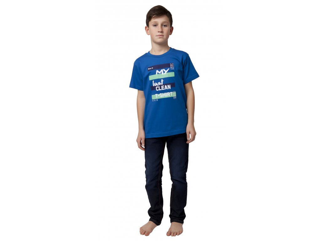 Chlapecké triko CALVI 20-064 - světlejší modrá