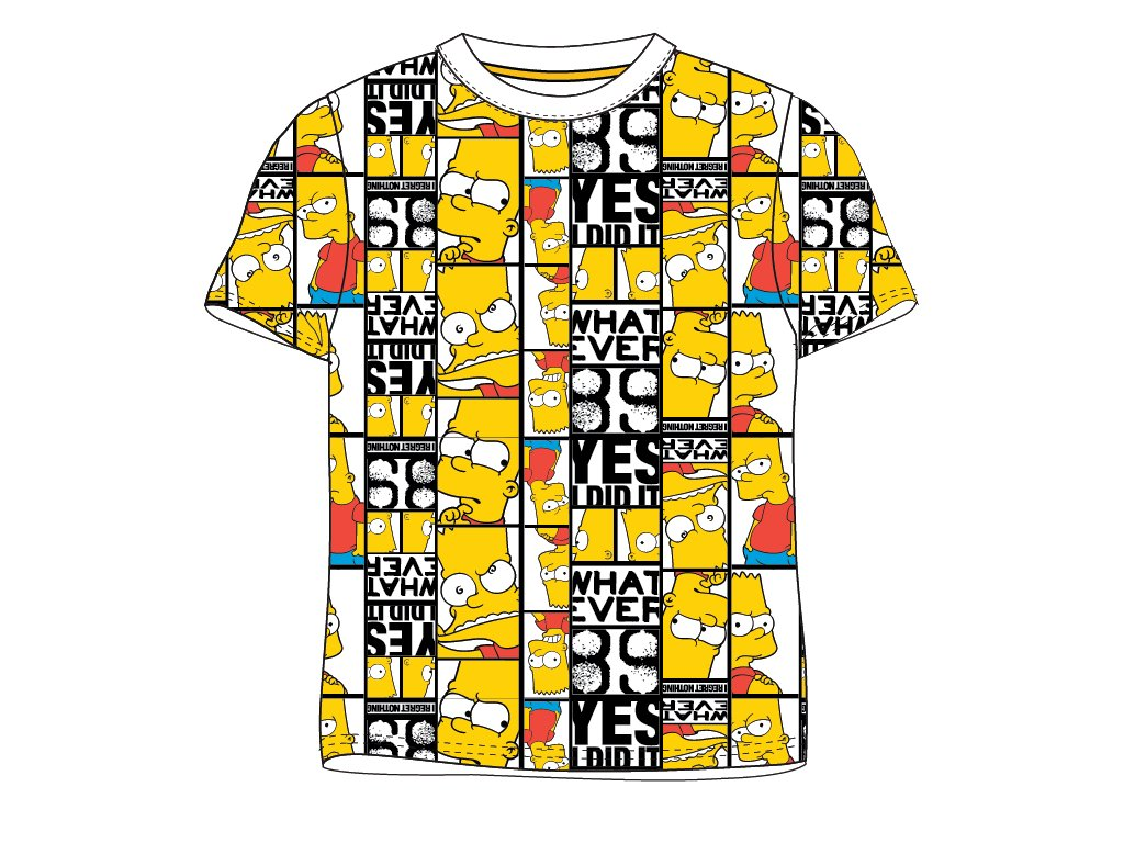 Dětské triko BART SIMPSON 5202082 - žluté