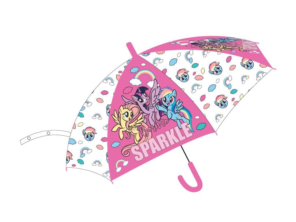 Dětský deštník MY LITTLE PONY 5250692 - růžová/transparentní