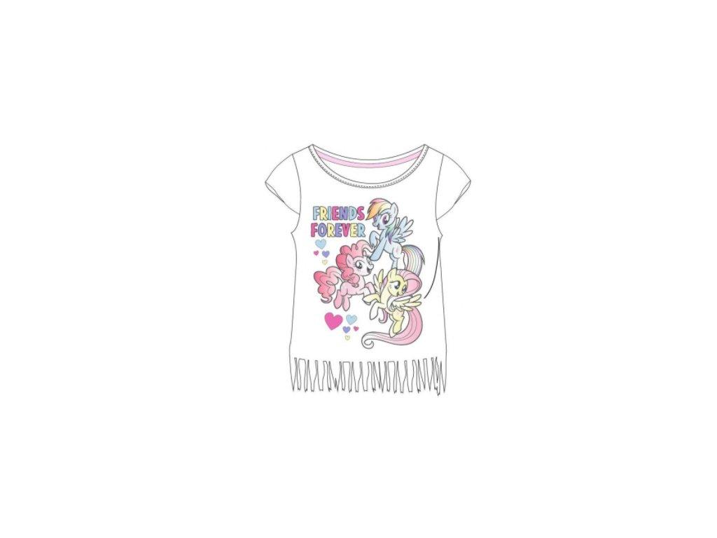 Dívčí triko MY LITTLE PONY 5202822 - bílé s třásněmi