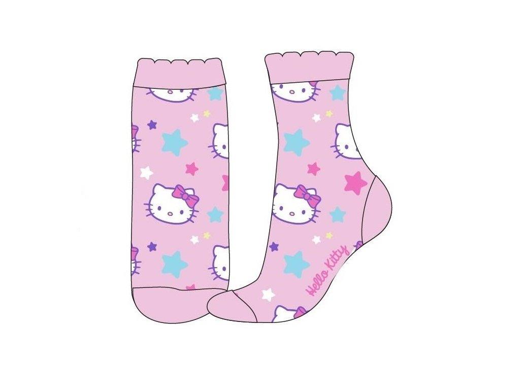 Dětské ponožky HELLO KITTY 52342229 - sv. růžové