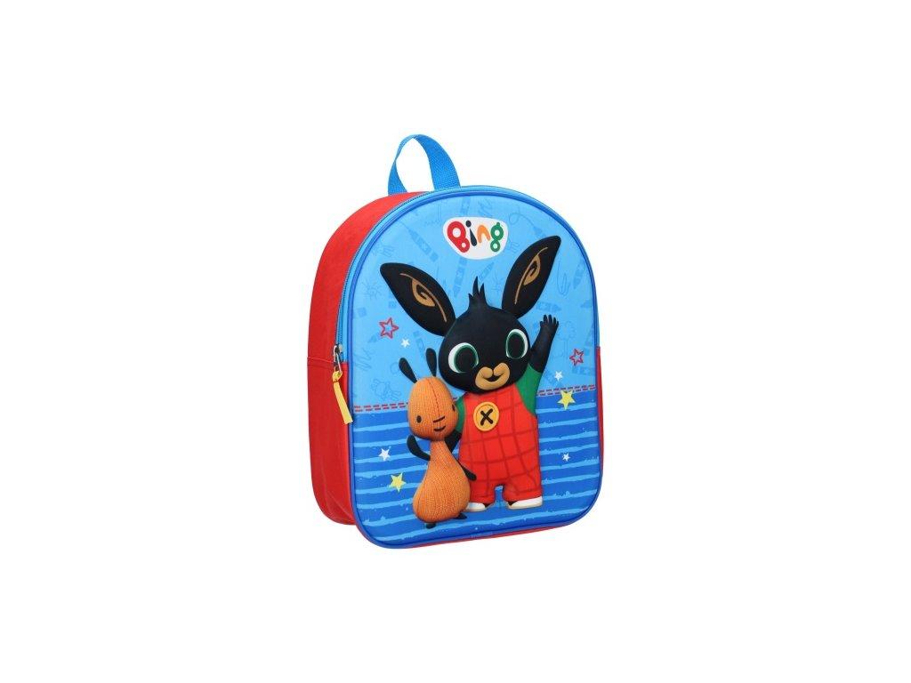 Dětský 3D batoh BING 0624 - červená/modrá