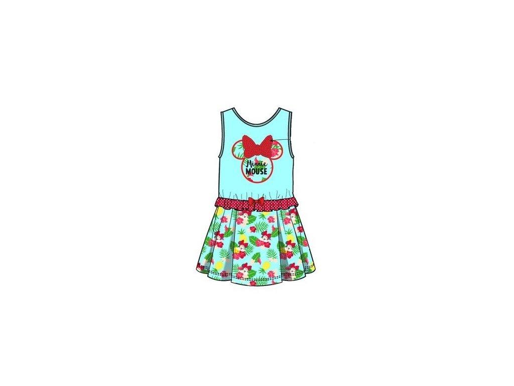 Dívčí šaty MINNIE Aloha 1121 - tyrkysové