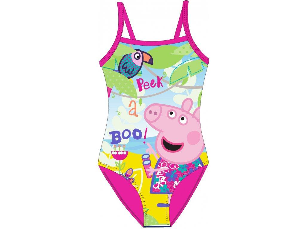 Dívčí plavky PEPPA PIG 5244776 - barevný mix