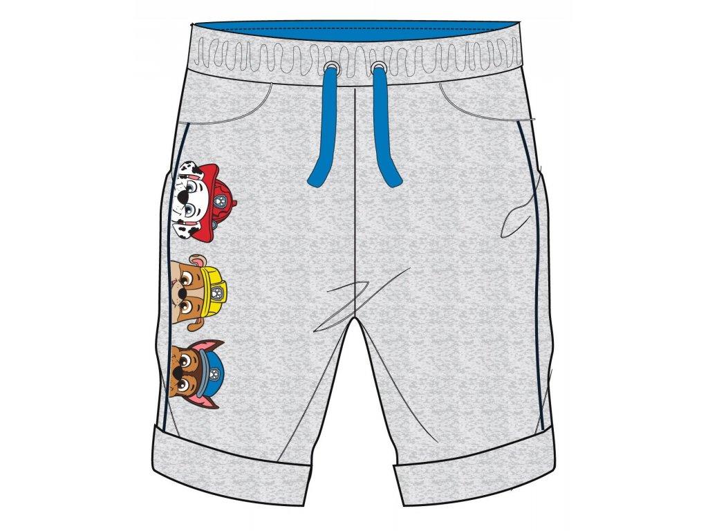 Chlapecké šortky TLAPKOVÁ PATROLA 52071393 - šedý melír