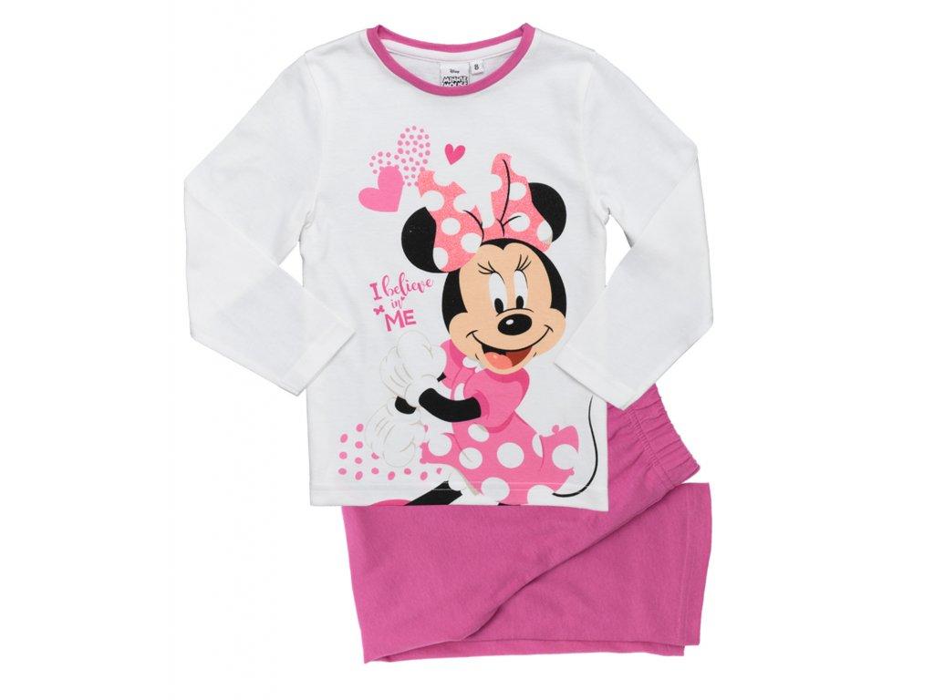 Dívčí pyžamo MINNIE 35170 - bílá/růžová