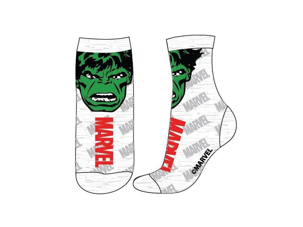 Dětské ponožky AVENGERS 5234308 - bílé, Hulk