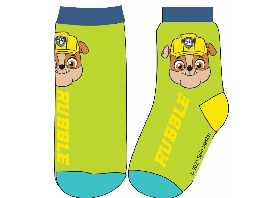 Dětské ponožky TLAPKOVÁ PATROLA 52341359 - jarní zelená