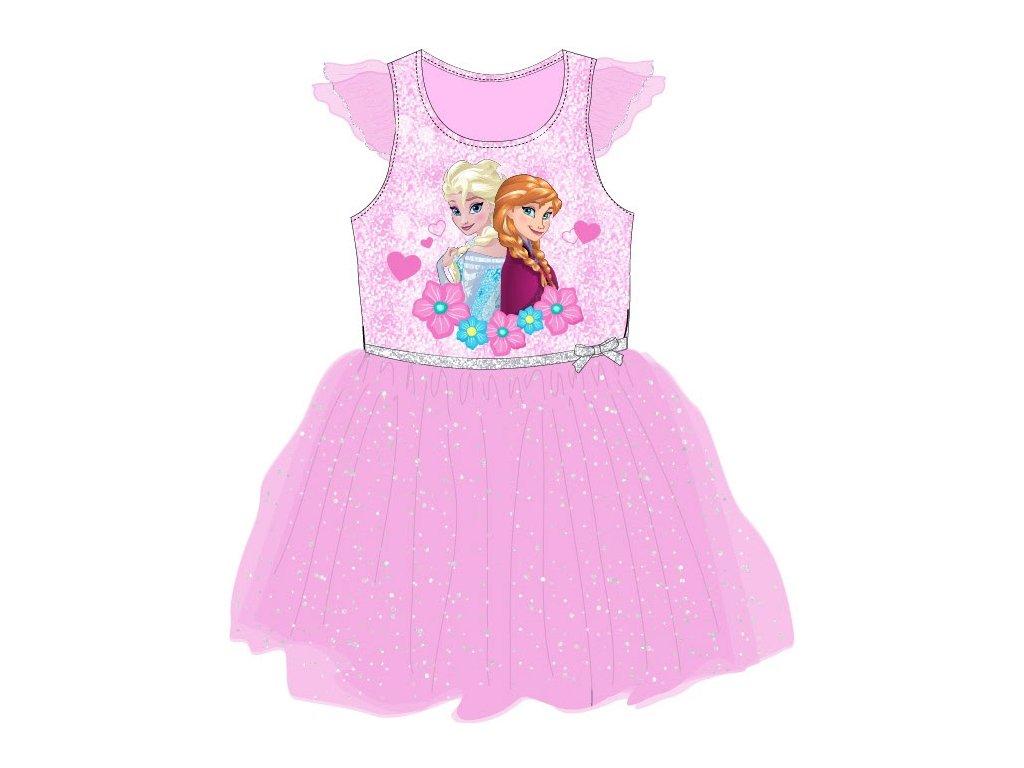 Dívčí šaty FROZEN 52236757 - růžové