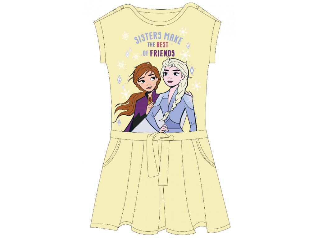 Dívčí šaty FROZEN 52239290 - vanilkové