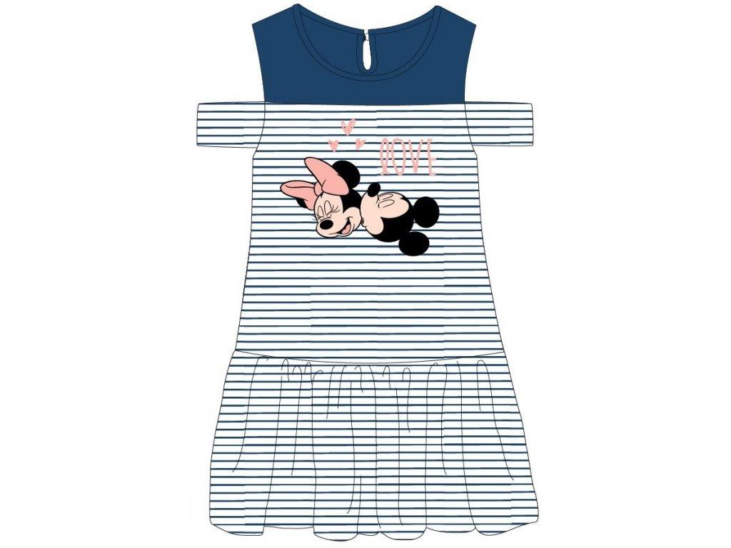 Dívčí šaty MINNIE 52239278 - modrý pruh