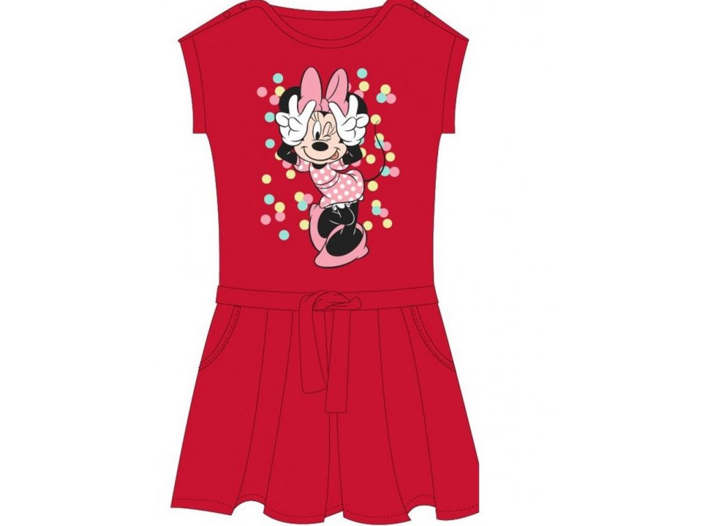 Dívčí šaty MINNIE 52239277 - bublinky, červené